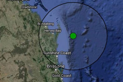 The earthquake was one of Queensland's biggest.
