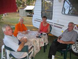 Grey nomads posh tablecloth